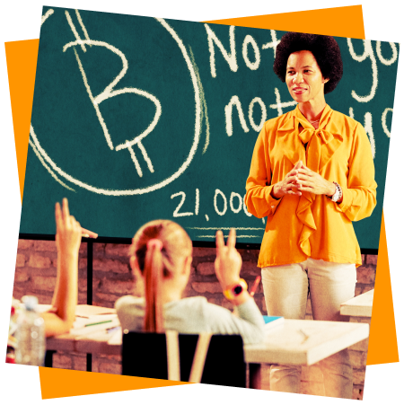 Photo of a classroom where Bitcoin is taught